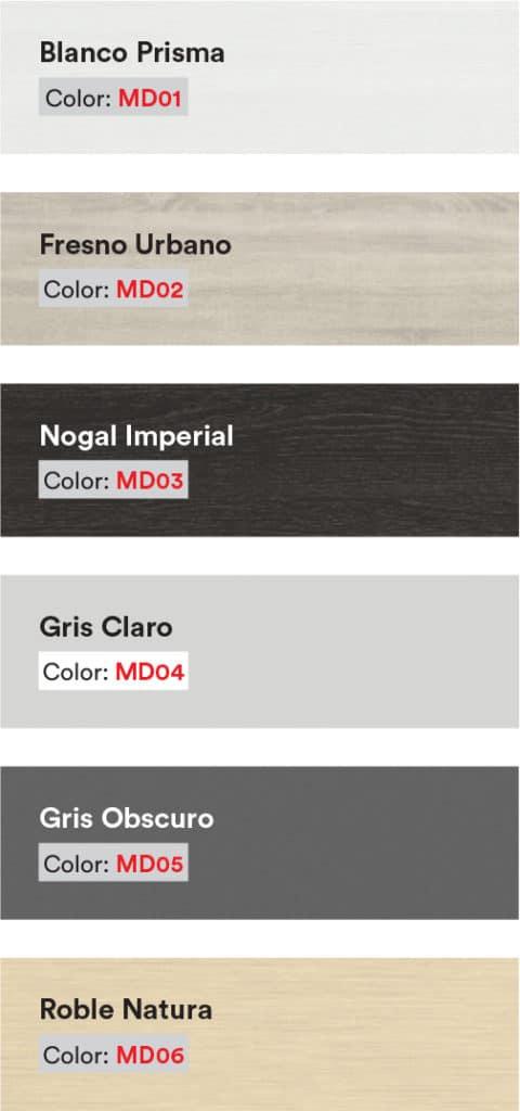 Colores de cubiertas